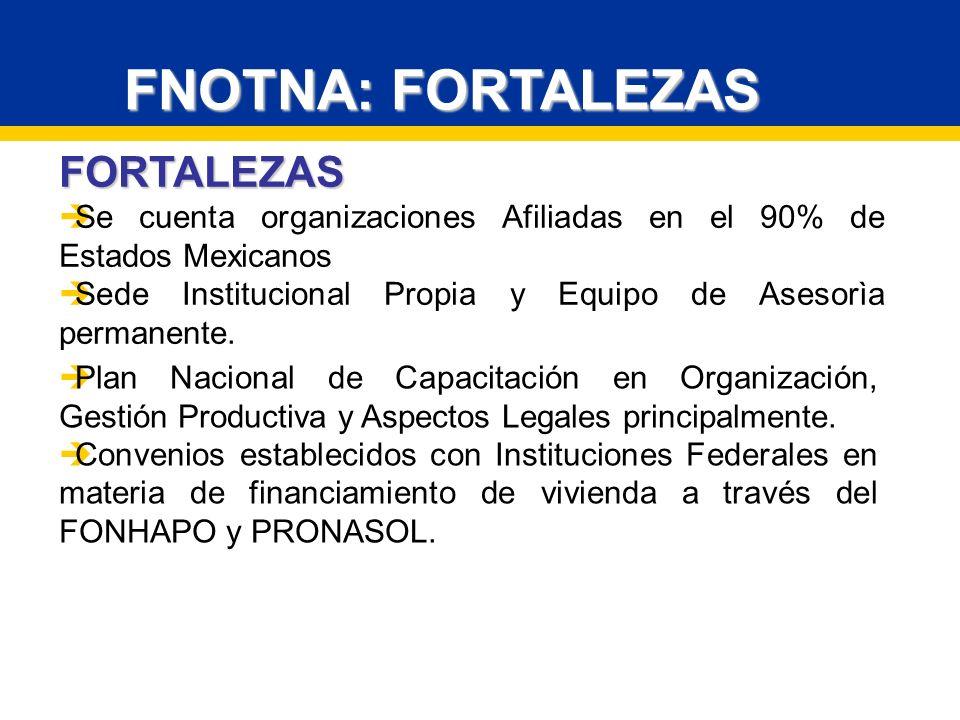 FNOTNA: FORTALEZAS FORTALEZAS