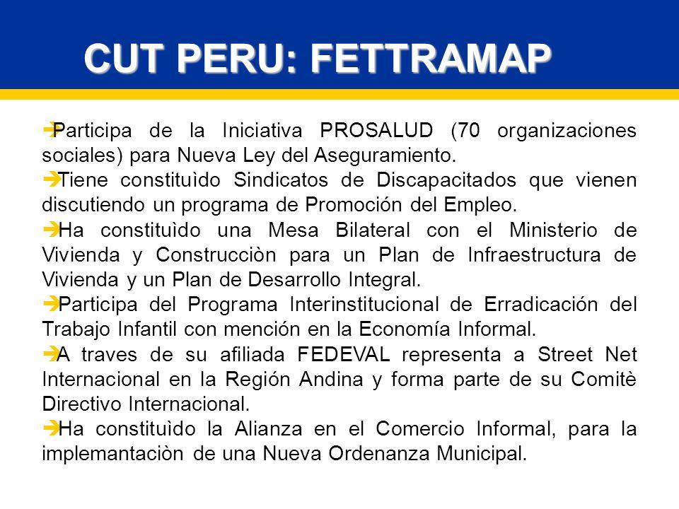 CUT PERU: FETTRAMAP Participa de la Iniciativa PROSALUD (70 organizaciones sociales) para Nueva Ley del Aseguramiento.