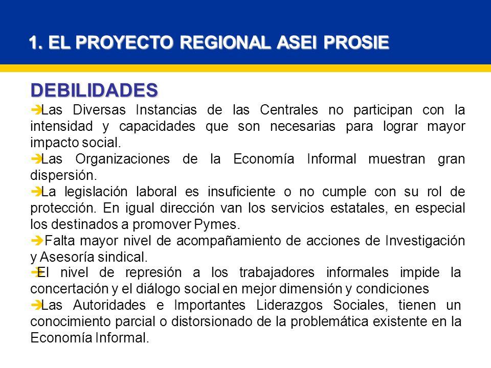 1. EL PROYECTO REGIONAL ASEI PROSIE