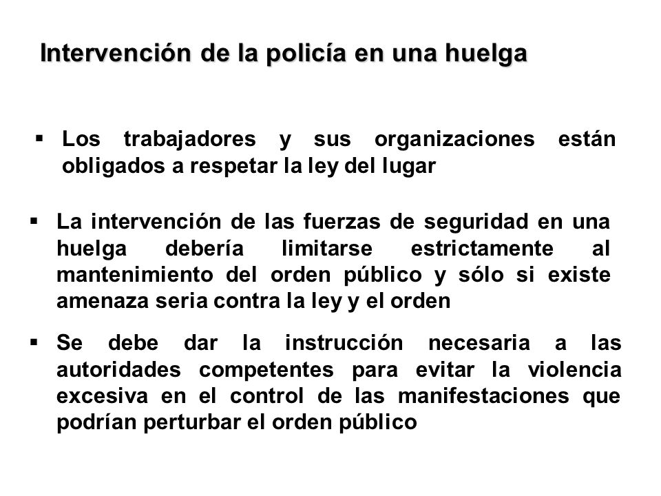 Intervención de la policía en una huelga