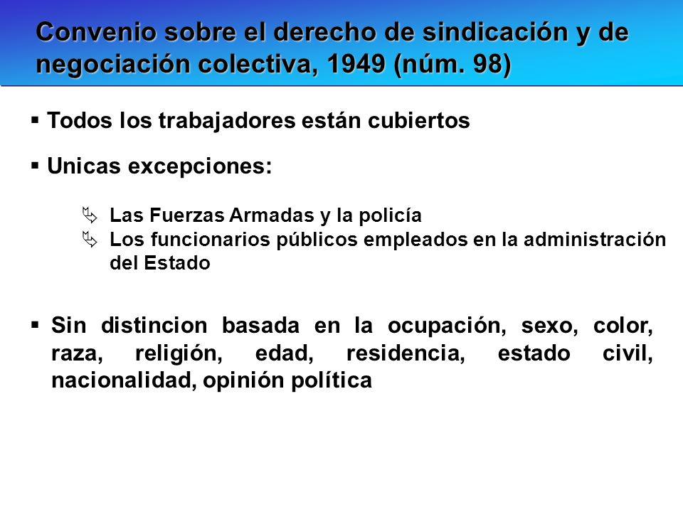 Convenio sobre el derecho de sindicación y de negociación colectiva, 1949 (núm. 98)