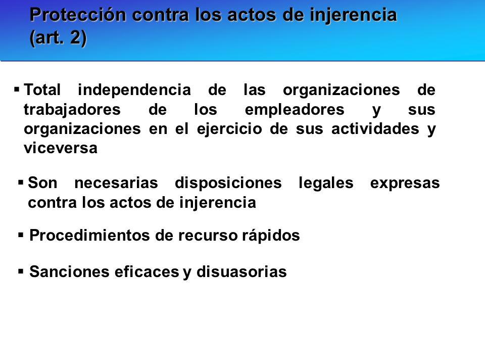 Protección contra los actos de injerencia (art. 2)