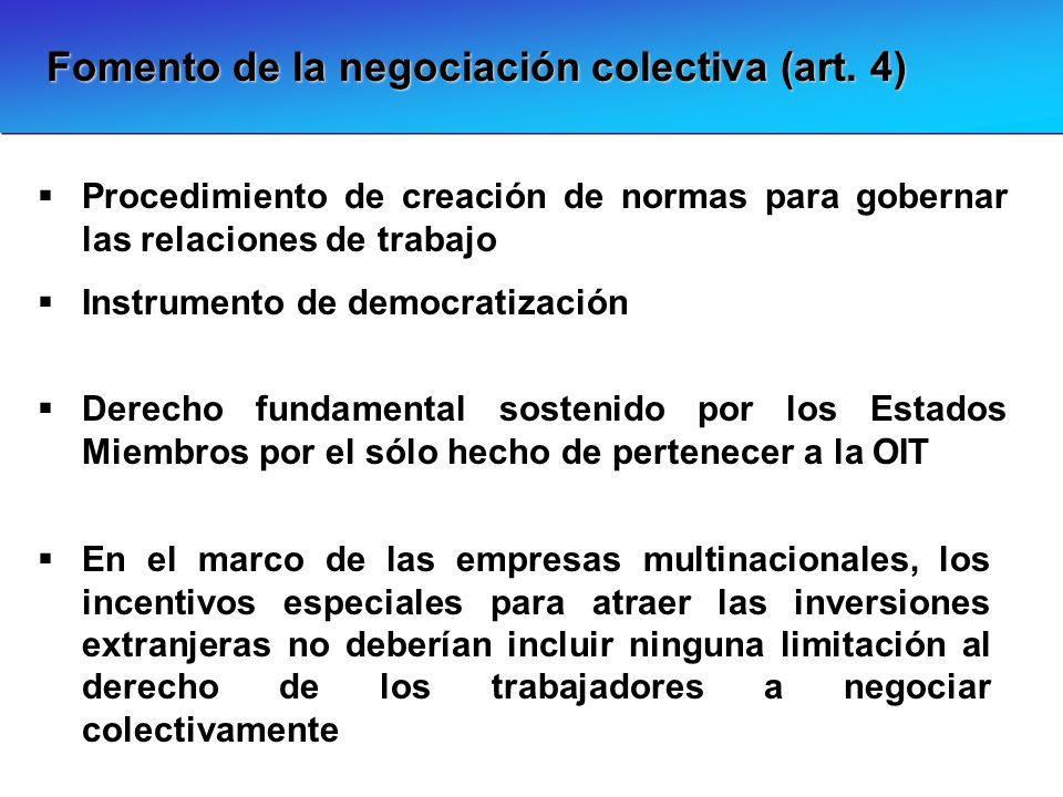 Fomento de la negociación colectiva (art. 4)