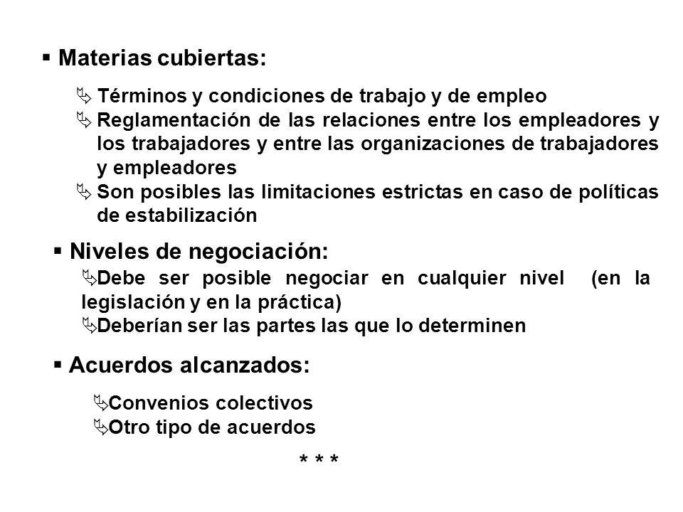 Niveles de negociación: