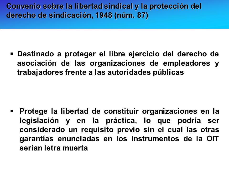 Convenio sobre la libertad sindical y la protección del derecho de sindicación, 1948 (núm. 87)