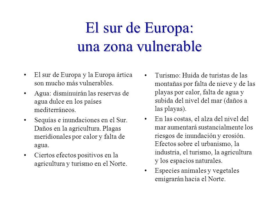 El sur de Europa: una zona vulnerable