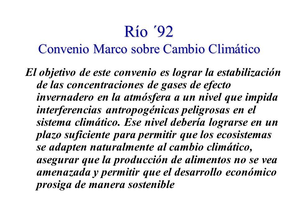 Río ´92 Convenio Marco sobre Cambio Climático