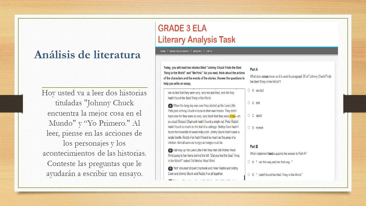 Análisis de literatura