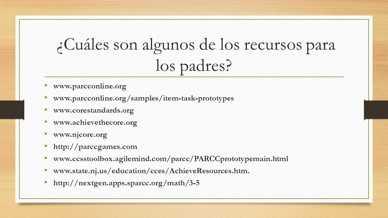 ¿Cuáles son algunos de los recursos para los padres