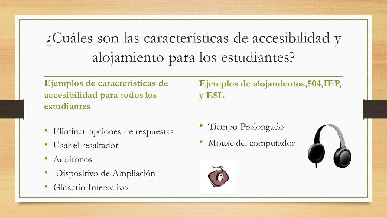 ¿Cuáles son las características de accesibilidad y alojamiento para los estudiantes