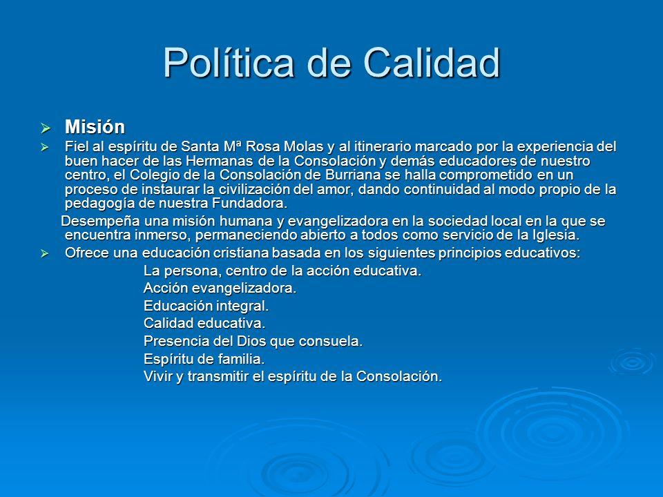 Política de Calidad Misión