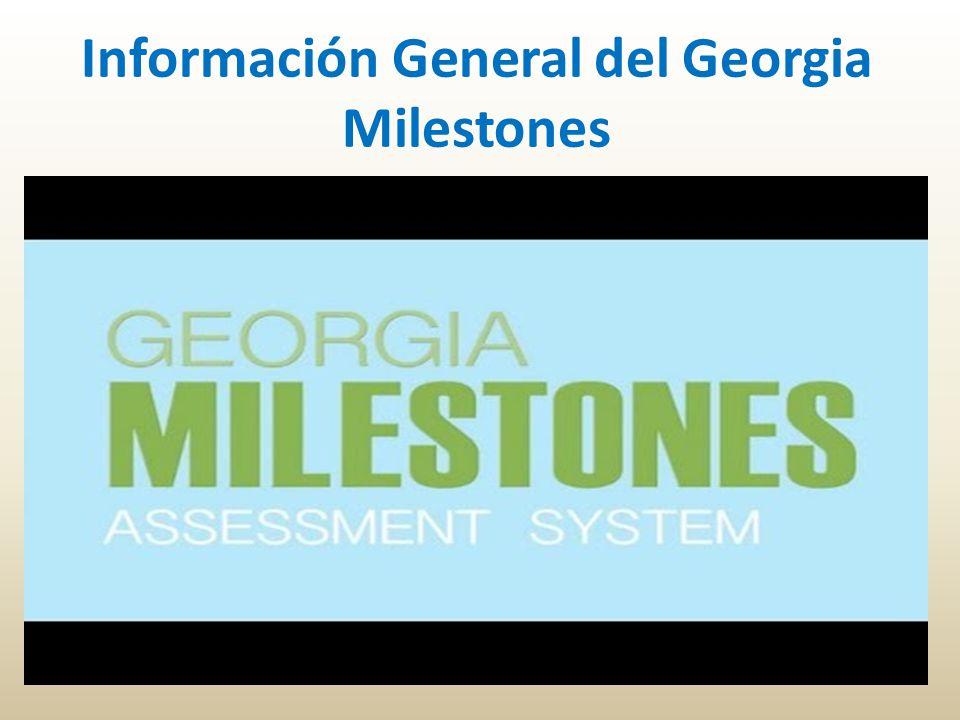 Información General del Georgia Milestones