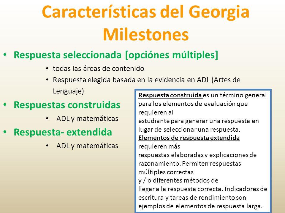Características del Georgia Milestones