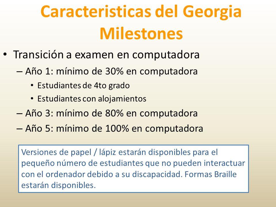 Caracteristicas del Georgia Milestones