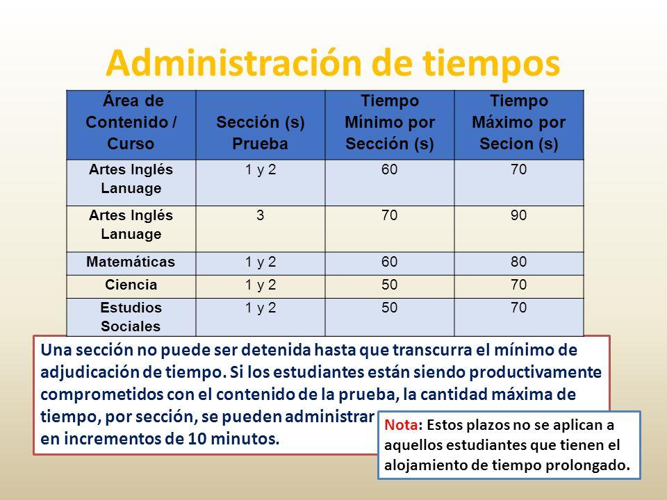 Administración de tiempos