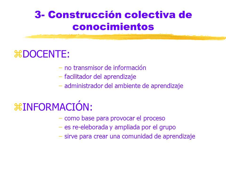 3- Construcción colectiva de conocimientos