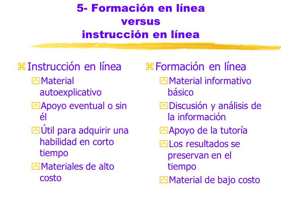 5- Formación en línea versus instrucción en línea