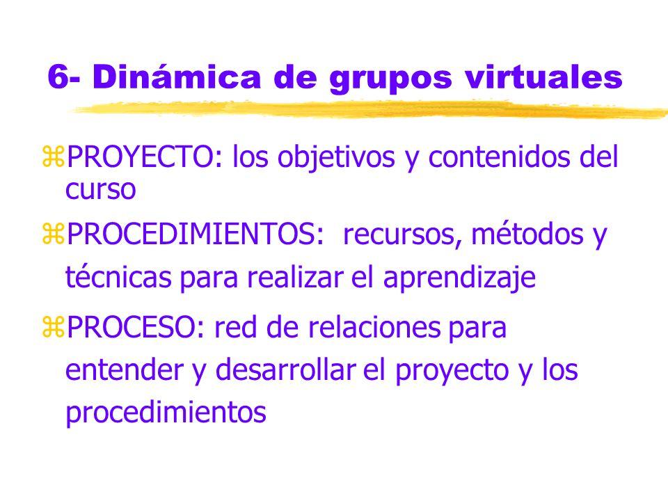 6- Dinámica de grupos virtuales