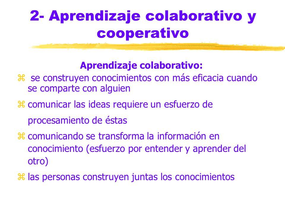2- Aprendizaje colaborativo y cooperativo