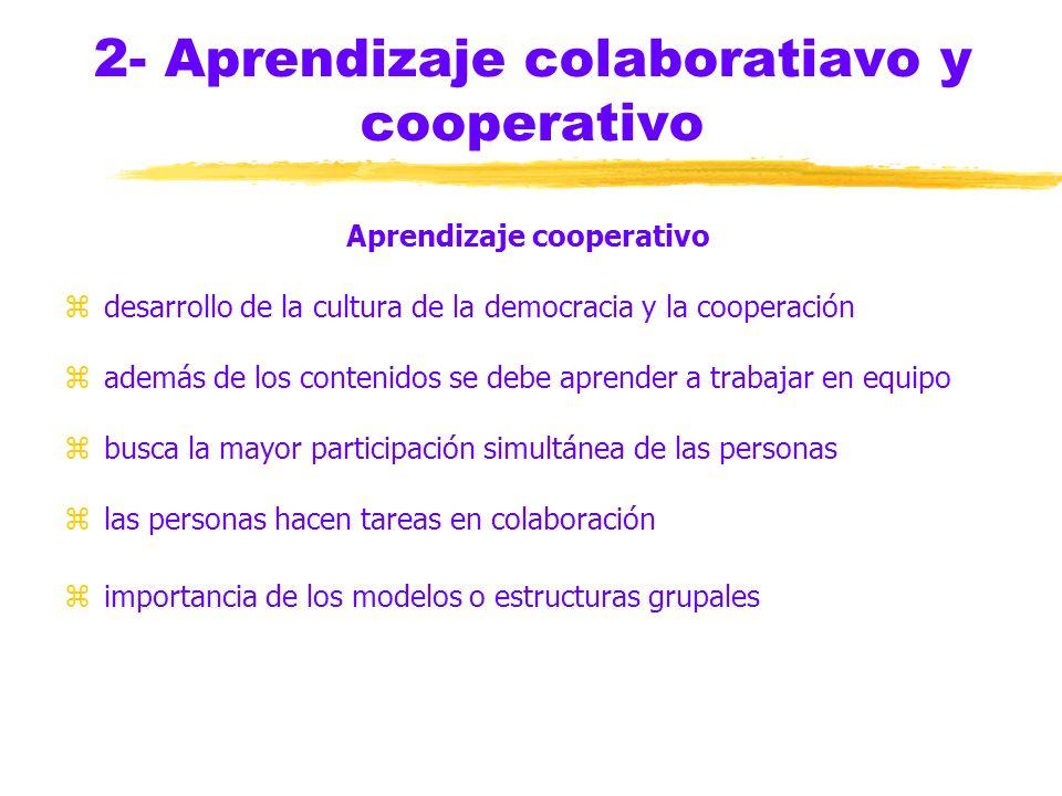 2- Aprendizaje colaboratiavo y cooperativo