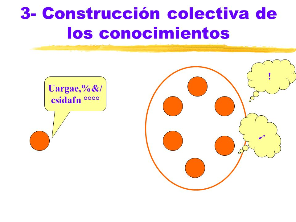 3- Construcción colectiva de los conocimientos