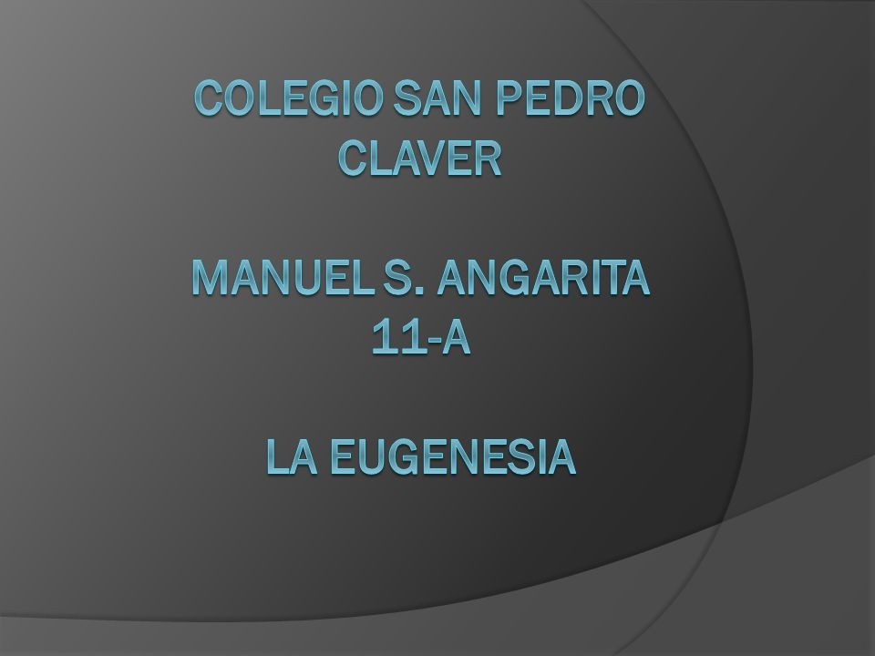 COLEGIO SAN PEDRO CLAVER MANUEL S. ANGARITA 11-A LA EUGENESIA
