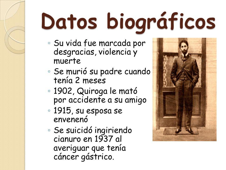 Datos biográficos Su vida fue marcada por desgracias, violencia y muerte. Se murió su padre cuando tenía 2 meses.