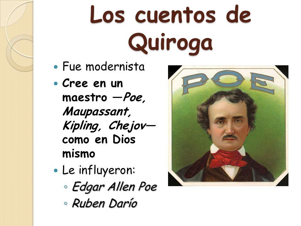Los cuentos de Quiroga Fue modernista