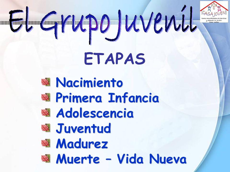 ETAPAS Nacimiento Primera Infancia Adolescencia Juventud Madurez