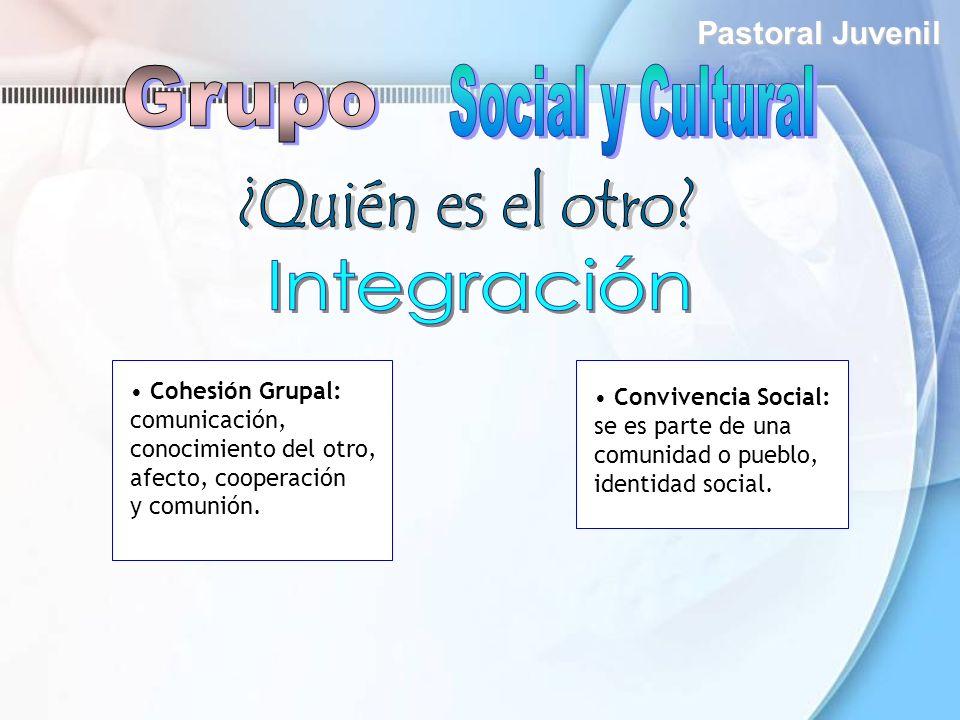 Grupo Social y Cultural ¿Quién es el otro Integración