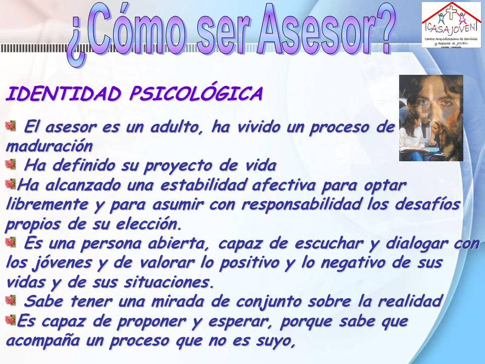 ¿Cómo ser Asesor IDENTIDAD PSICOLÓGICA