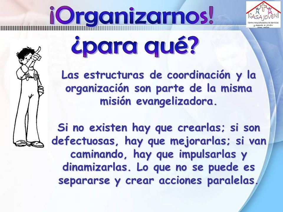 ¡Organizarnos! ¿para qué