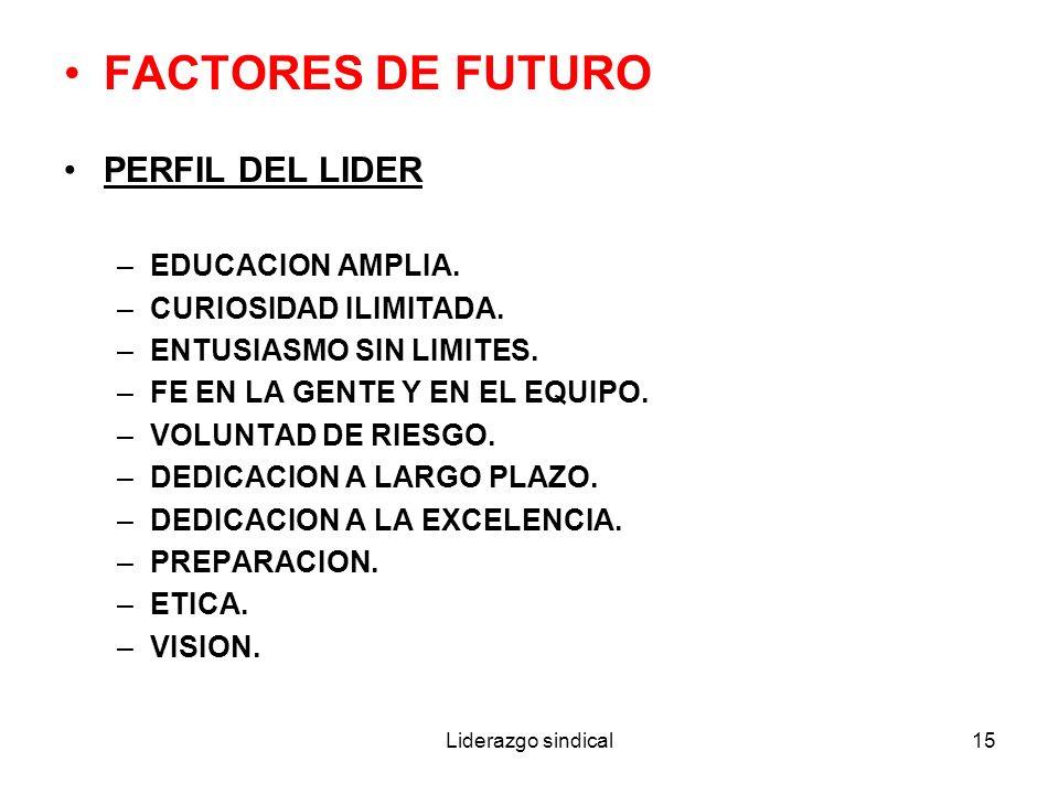 FACTORES DE FUTURO PERFIL DEL LIDER EDUCACION AMPLIA.