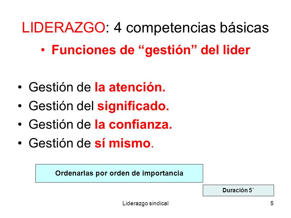 LIDERAZGO: 4 competencias básicas