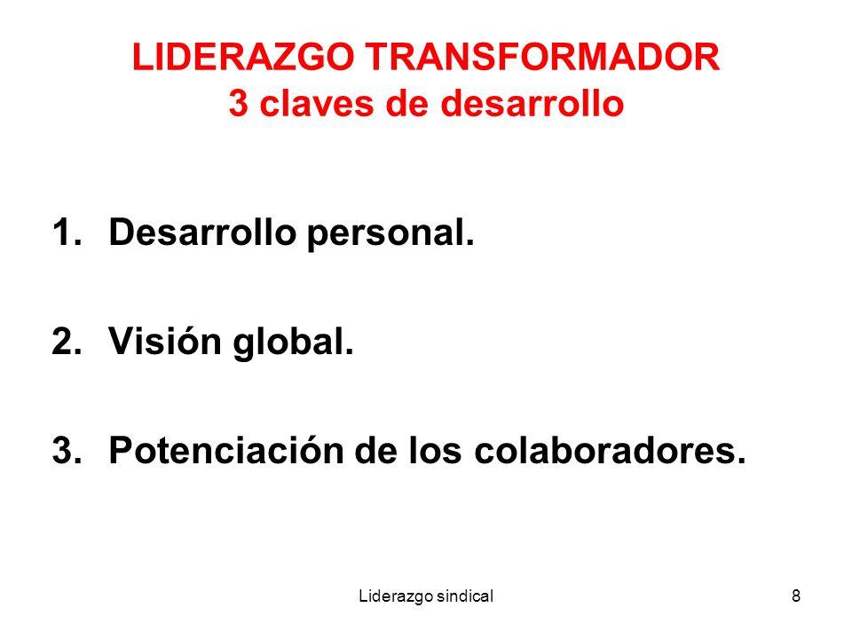 LIDERAZGO TRANSFORMADOR 3 claves de desarrollo