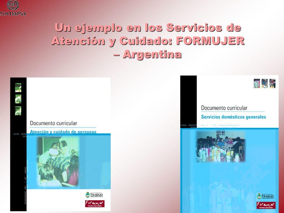 Un ejemplo en los Servicios de Atención y Cuidado: FORMUJER – Argentina