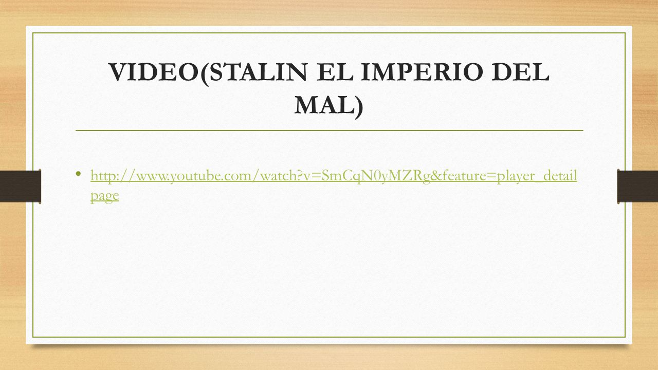 VIDEO(STALIN EL IMPERIO DEL MAL)