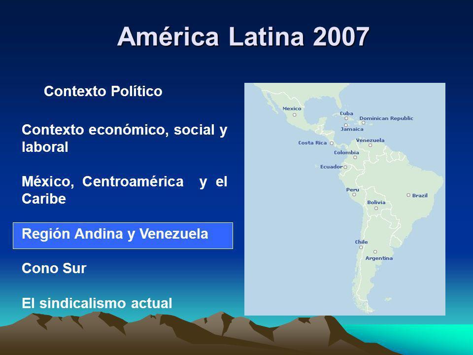 América Latina 2007 Contexto Político