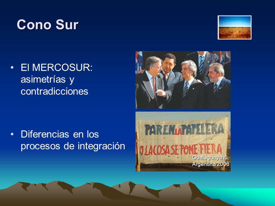 Cono Sur El MERCOSUR: asimetrías y contradicciones