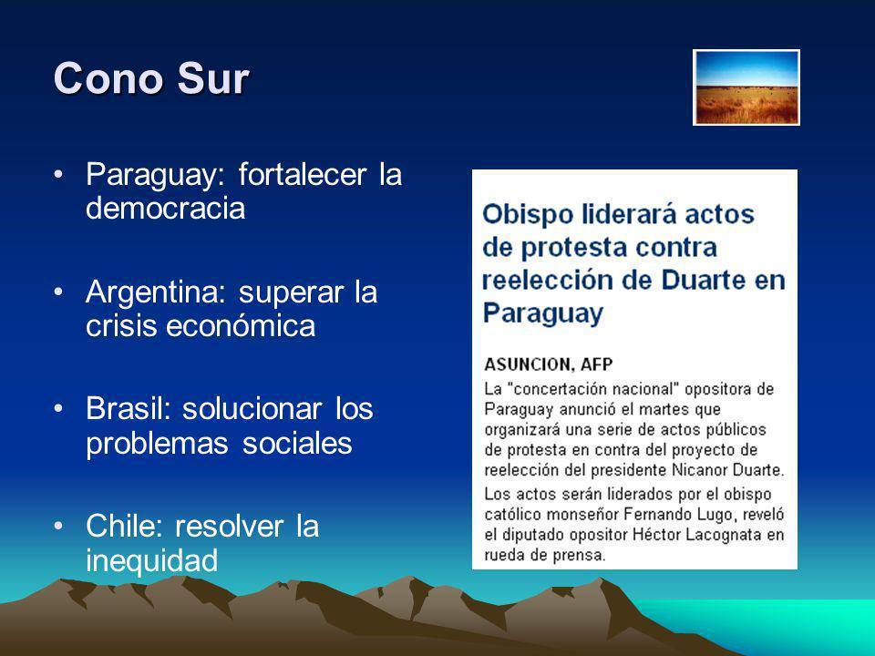 Cono Sur Paraguay: fortalecer la democracia