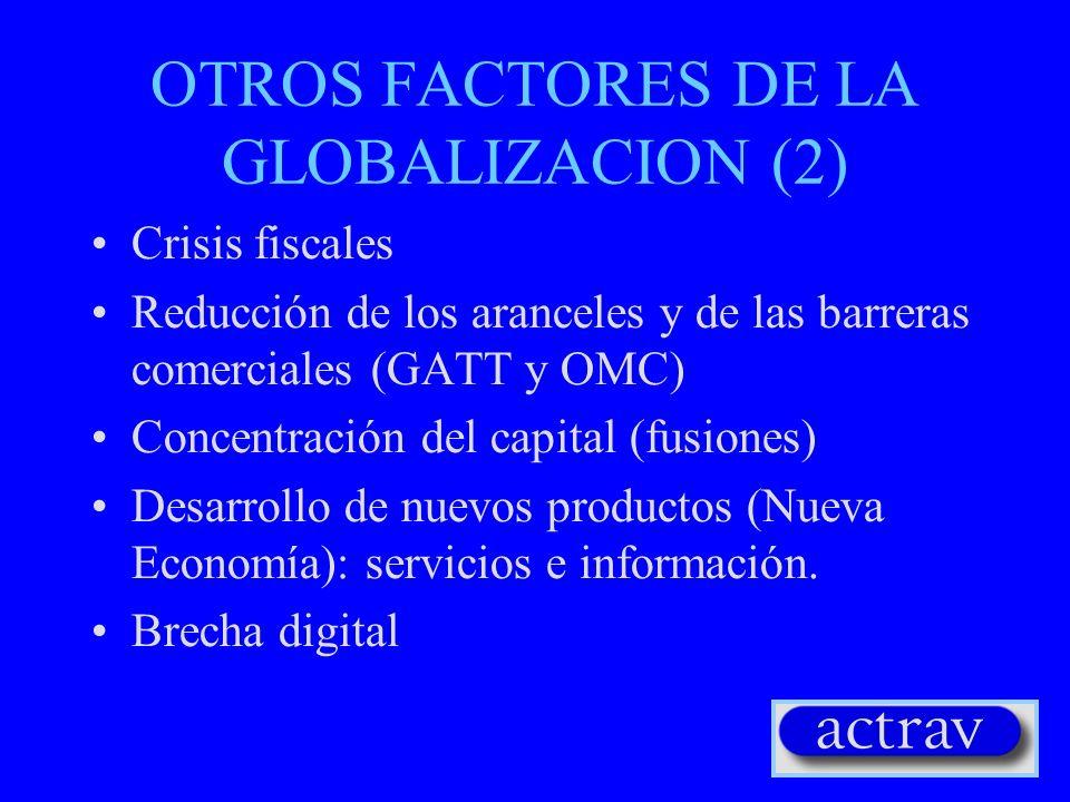 OTROS FACTORES DE LA GLOBALIZACION (2)