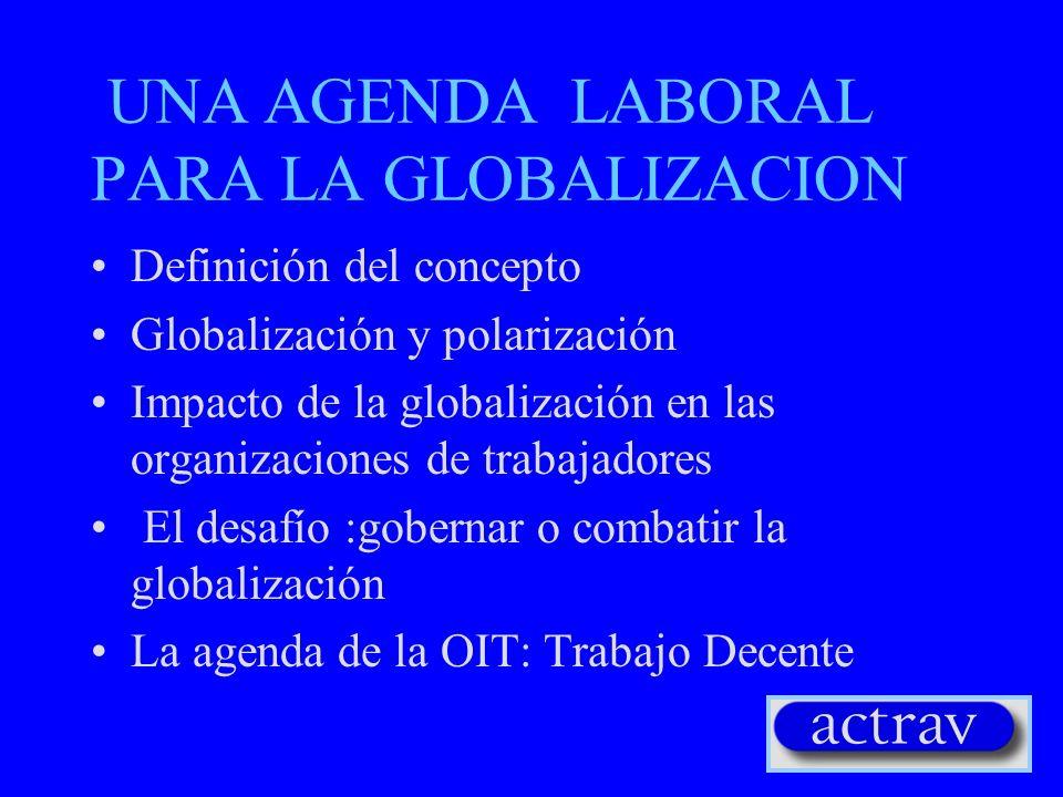 UNA AGENDA LABORAL PARA LA GLOBALIZACION