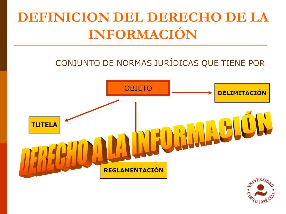 DEFINICION DEL DERECHO DE LA INFORMACIÓN