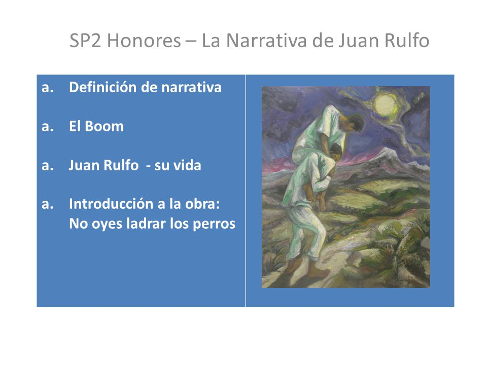 SP2 Honores – La Narrativa de Juan Rulfo
