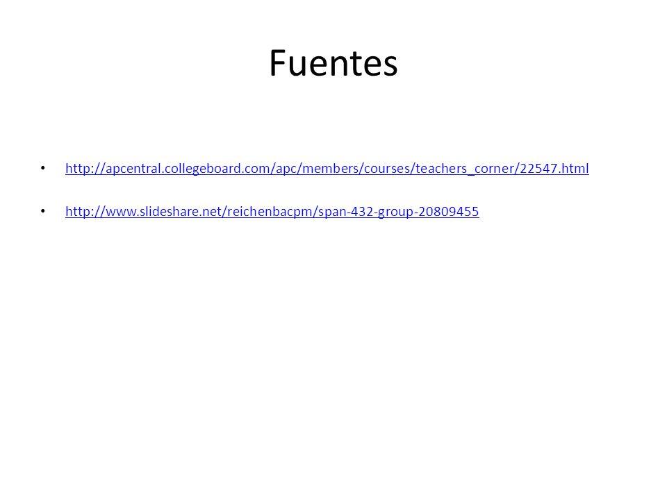 Fuentes http://apcentral.collegeboard.com/apc/members/courses/teachers_corner/22547.html.