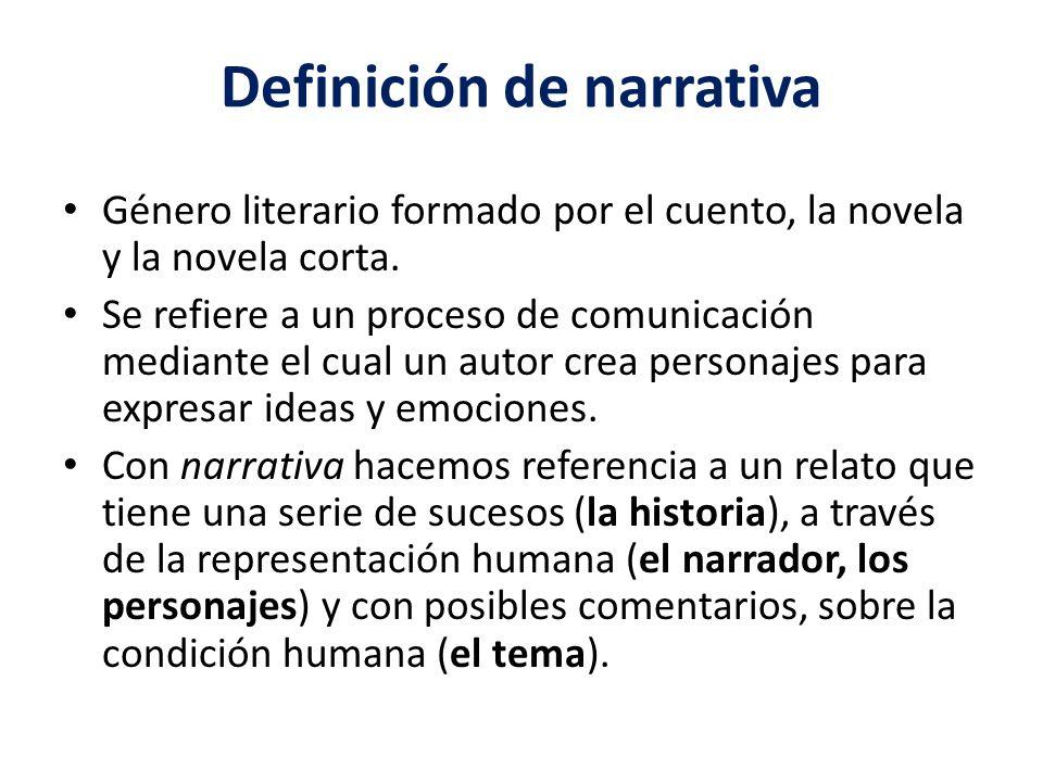 Definición de narrativa