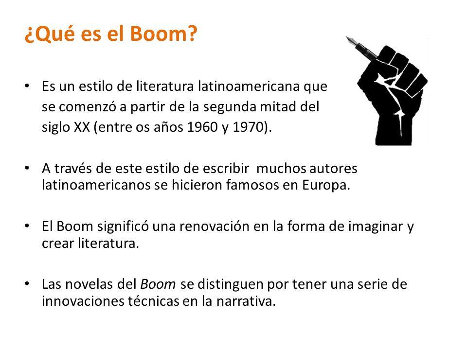 ¿Qué es el Boom Es un estilo de literatura latinoamericana que