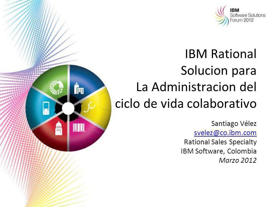 IBM Rational Solucion para La Administracion del ciclo de vida colaborativo