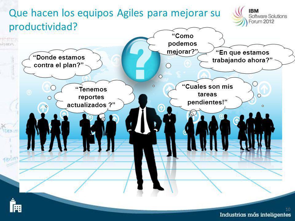Que hacen los equipos Agiles para mejorar su productividad
