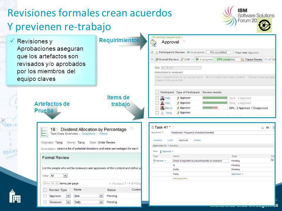 Revisiones formales crean acuerdos Y previenen re-trabajo